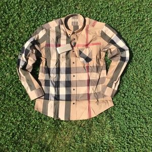 BURBERRY LONDON MEN`S SHIRT MEDIUM %100 COTTON